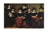 The Officers of the Amsterdam Guild of Wine Merchants, C.1659 Lámina giclée por Ferdinand Bol