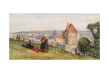 View over Dieppe from the Cliffs Above the Chateau, C.1865 Giclee Print by John Absolon