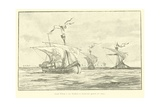 Count William I of Holland Voyaging to the 5th Crusade, 1217 Giclee Print by Willem II Steelink