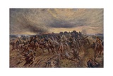 The German Retreat from the Marne, World War I, September 1914 Giclee Print by John Charlton