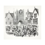 James the First's Entrance into the City of Chester, Pub. 19th Century Giclee Print