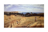 View across Sandown Bay, Isle of Wight, Circa 1855 Giclee Print by Richard Burchett
