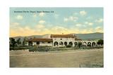 Southern Pacific Depot, Santa Barbara, California, 1910-35 Giclee Print