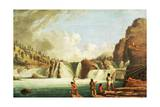 Hunting Salmon at Kettle Falls on Columbia River Giclee Print by Paul Kane