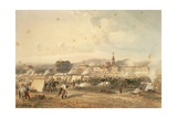 Novara, the Field of African Hunters, 1860 Giclee Print by Carlo Bossoli