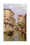 Gondolas on a Venetian Canal 'Rio De San Aportino' Giclee Print by Antonietta Brandeis