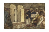 Charlemagne in the Chapel of the Valkhof, Nijmegen Giclee Print by Willem II Steelink