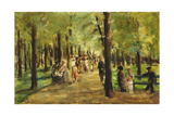 Walkers in the Tiergarten; Spazierganger Im Tiergarten, 1918 Giclee Print by Max Liebermann