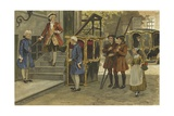 Sedan Chair and Sleigh, Netherlands, Mid 18th Century Giclee Print by Willem II Steelink