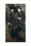 Walk in Bois De Boulogne, 1909 Giclee Print by Giovanni Boldini