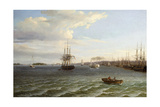 View of Philadelphia, Looking South on the Delaware River Giclee Print by Thomas Birch