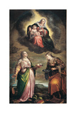 The Virgin in Glory with Saints Agatha and Apollonia Giclee Print by Jacopo Bassano
