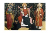 Virgin with Child Between St James and Bishop Giclee Print by Enguerrand Quarton