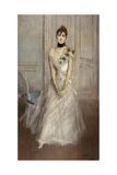 White Pastel, Portrait of Emiliana Concha De Ossa Giclee Print by Giovanni Boldini