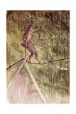 Acrobat on Tightrope Lámina giclée por Henri de Toulouse-Lautrec