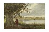 View of the Hunenschans by the Uddelermeer, Gelderland, Netherlands Giclee Print by Willem II Steelink