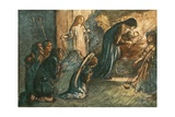 But See! the Virgin Blest Hath Laid Her Babe to Rest Giclee Print by Robert Anning Bell