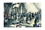 Nelson's Last Signal at Trafalgar, 1805 Giclee Print by Thomas Davidson
