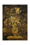 Marquetry Inlay on Ebony Cabinet Door Giclee Print by Andre-charles Boulle