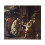 Belisarius Begging for Alms , 1781 Giclee Print by Jacques-Louis David