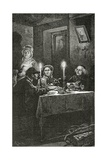 Jean Valjean Is Received and Cared for by Bishop Myriel, 19th Century Giclee Print by Frederic Lix