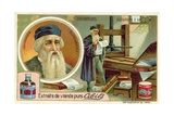 Johannes Gutenberg - Inventor of the Printing Press Giclee Print