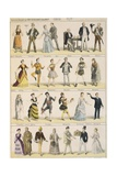 Sketches of Costumes, Coco, Illustrations Giclee Print by Alfred Grevin