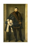 Giuseppe Da Porto with His Son Adriano Giclee Print by Paolo Caliari