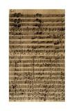 Handwritten Score for Cantatas No188 Giclee Print by Johann Sebastian Bach