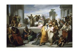 Brutus Displaying Lucretia's Body to People of Rome Giclee Print by Francesco Coghetti