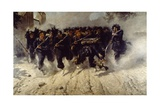 Bersaglieri Charge at Porta Pia Giclee Print by Michele Cammarano