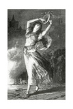 La Esmeralda - Illustration from Notre Dame De Paris, 19th Century Giclee Print by Gustave Brion