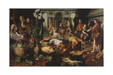 Christ in House of Martha and Mary Giclee Print by Pieter Aertsen