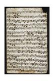 Handwritten Score for Cantata No 9 Giclee Print by Johann Sebastian Bach