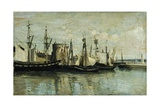La Rochelle, Entrance to Dry Dock, 1851 Giclee Print by Jean-Baptiste-Camille Corot