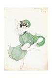 Costume Design for 'Bacchanale', Soloist Ballerina Giclee Print by Leon Bakst