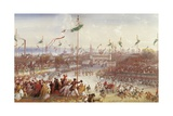 Victor Emmanuel II Arriving in Parma, March 1860 Giclee Print by Carlo Bossoli