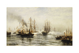 Reception of the Isere in New York Bay, June 20, 1885, 1885 Giclee Print by Edward Percy Moran