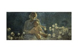 Our Lady of Chrysanthemums, 1890 Giclee Print by Gaetano Previati