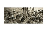 Portuguese Sailors Attacked by Hostile Tribes in North Africa Giclee Print by Angus Mcbride