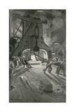 The 40-Ton Steam-Hammer at Work in Woolwich Arsenal Giclee Print by Enoch Ward