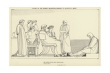 Ulysses on the Hearth Presenting Himself to Alcinous and Arete Giclee Print by John Flaxman