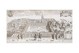 Christ Church College, Oxford, from 'Oxonia Illustrated', Published 1675 Giclee Print by David Loggan