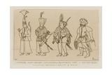 Janissary, Chief Archer, Commander and Turkish Executioner Giclee-trykk av Raphael Jacquemin