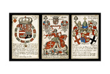French Seventeenth-Century Heraldic Playing Cards, C.1658 Giclee Print by Claude Orance Fine de Brianville