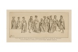 14th Century - Kings, Queens and People at Court in France Giclee-trykk av Raphael Jacquemin