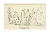 The Departure of Briseis from the Tent of Achilles Giclee Print by John Flaxman