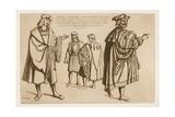 Noblemen of France and Italy at the Start of the 16th Century Giclee-trykk av Raphael Jacquemin