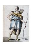 Sketch of Hippolytus' Costume for Phaedra Giclee Print by Jean Racine