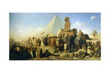 Meeting Between Cambyses II and Psammetichus III Giclee Print by Jean Adrien Guignet